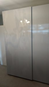 white gloss sliding door wardrobe