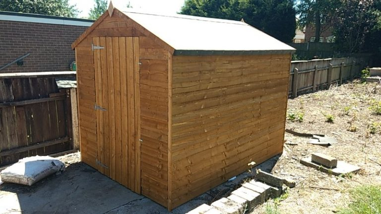garden shed assembly
